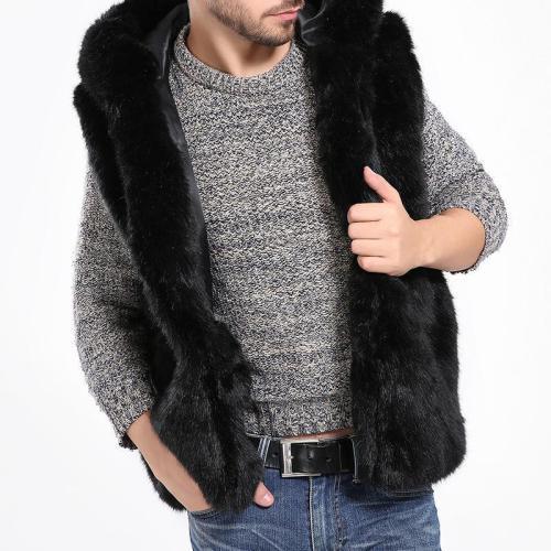 Men's Faux Fur Vest Men's Sleeveless