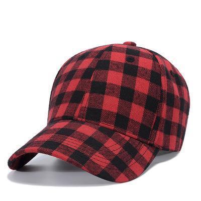 Men Women Fashion Plaid Snapback Cap Outdoor Baseball Cap