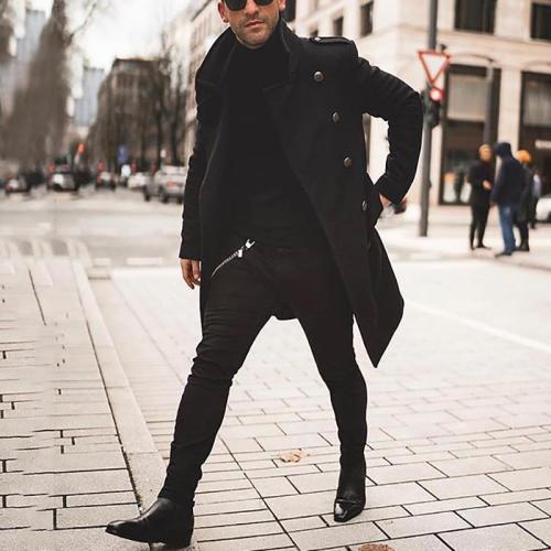 Fashion Pure Color Long Sleeve Overcoat