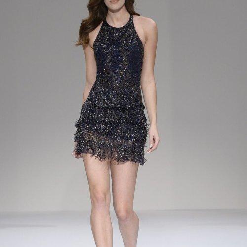 Women's Fashion Round Neck Slim Dress