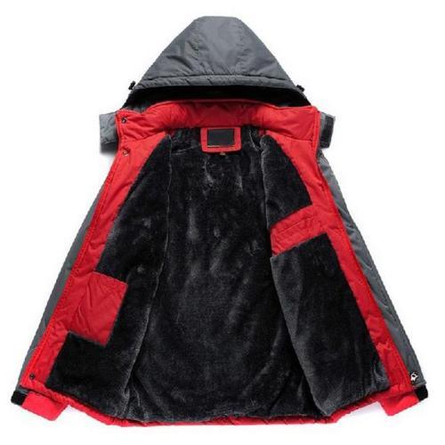 Men's Winter warm Jackets Sportswear Outdoors Mens Windbreaker Coats Thicken Patchwork Military Parka Fleece Fur Hooded Coat men