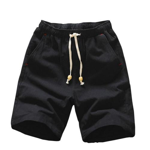 2020 Summer New Cotton Shorts Loose Men's Casual Shorts Black White Drawstring Waist Bermuda Shorts Men Plus Size 4XL 5XL
