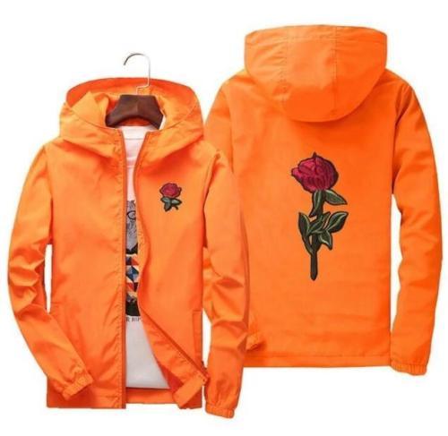 Men Plus Size 7 Colors Rose Jacket