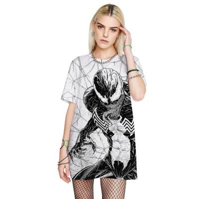 3D Venom Spider Printed Funny Men T-shirt Loose Casual Novelty Short Sleeve Tees Top