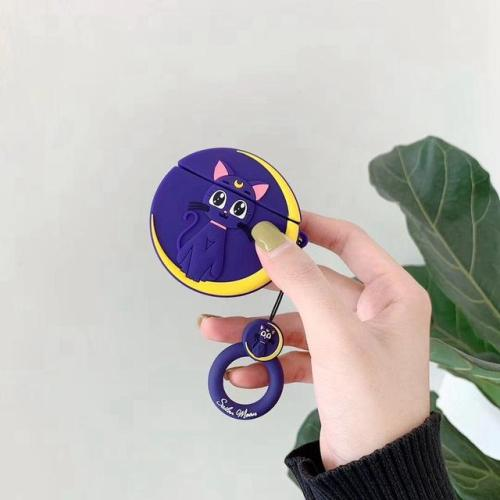 Kawaii Sailor Moon Silicone AirPods Case Shock Proof Cover