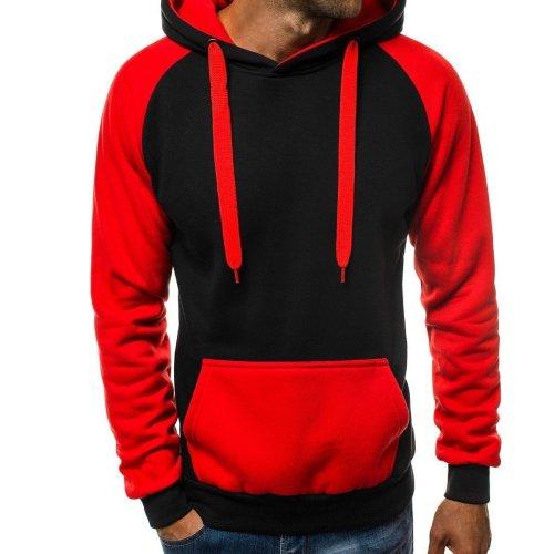 Fashion Mens Casual Splice Hoodie