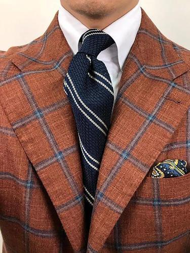 Casual Color Block Twill Necktie