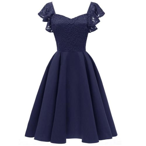 Evening Dress short Sexy Big skirt hem Sleeveless lace evening gown Sweetheart Party Gowns Satin Formal Dresses robe de soiree