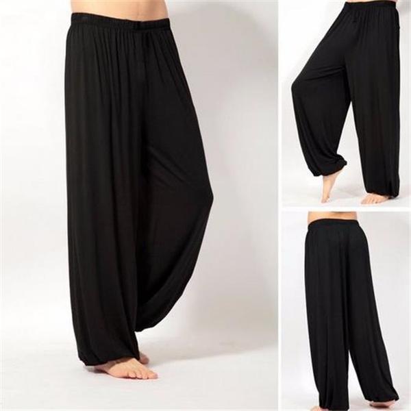 Casual Fashion Loose Solid Color Elastic Waist Men Pants