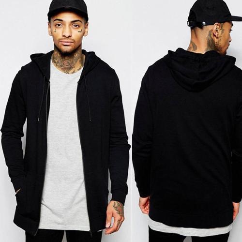Fashion Loose Plain Zipper Coat