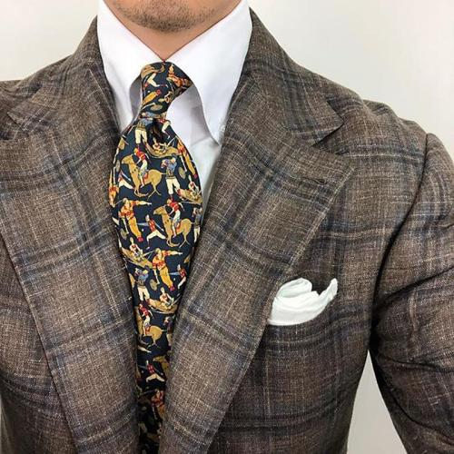 Casual printed men's neckties