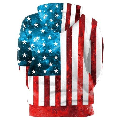 Long Sleeve Flag Print Hoodie