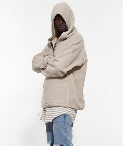 High Quality Mens Winter Hoodies Half Zip Hoodies