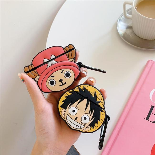 ONE PIECE Luffy Zoro 3D Silicone AirPod Case Cover with Ring
