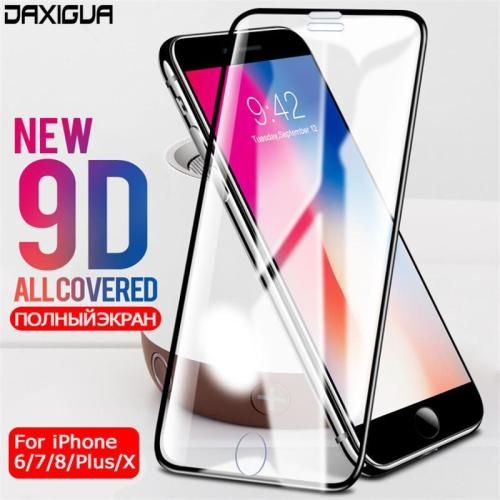 9D Aluminum Alloy Tempered Glass Full Cover Protector For iPhone 6 7 8 X