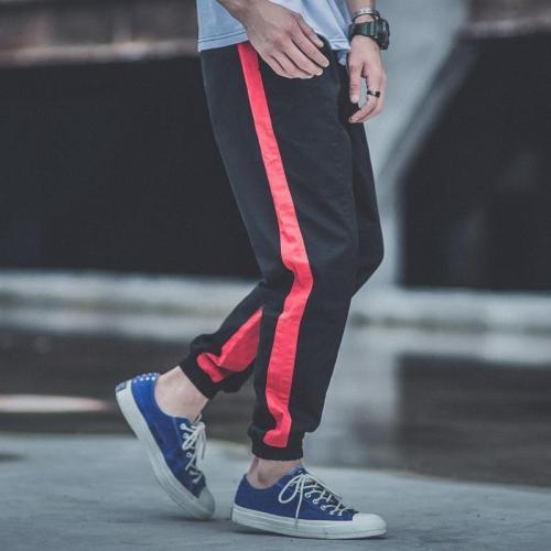 Fashion Loose Split Joint Color Blocking Jogger Pants