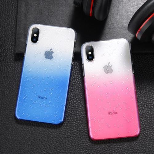 Luxury Gradient Color Water Drop Design Transparent Phone Case For iPhone X 8/7 Plus