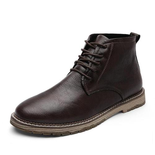 Men Genuine Leather Boots High Quality Ankle Boots Spring Autumn And Winter Man Shoes Ankle Boot Men's Snow Shoe Work Size 38-47