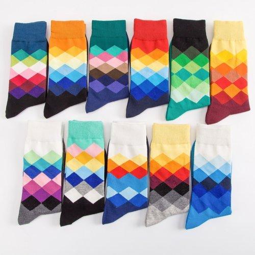 Color Diamond Men's Socks