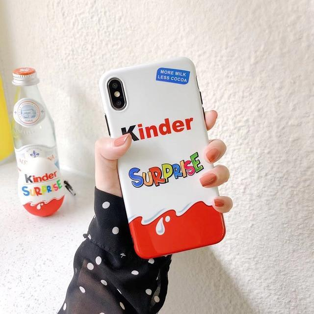 Kinder Fun Eggs iPhone Cases Soft Silicone Phone Cover & Aripods Case