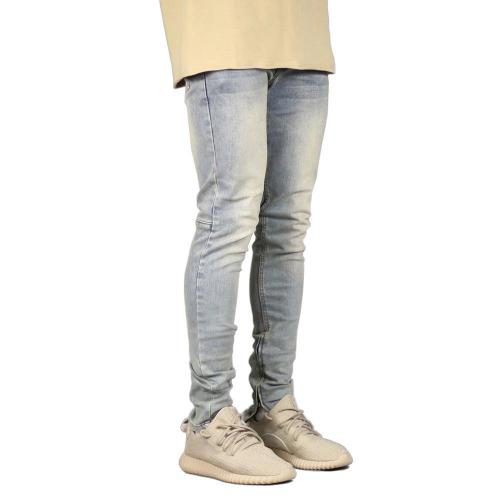 Casual Solid Mid Waist Zipper Jeans