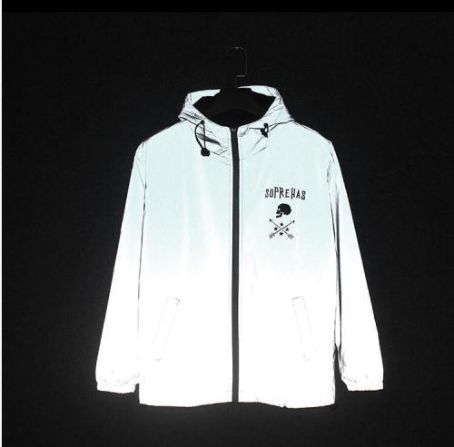 Autumn Spring Windbreaker Mens 3m Reflective Jackets Men Hip-hop Coat Rainwear Men Tiger streetwear night shiny harajuku jackets