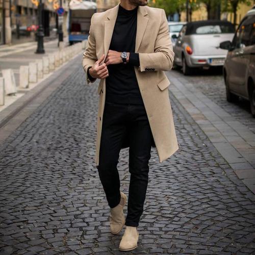 Single Breasted Long Sleeve Coat