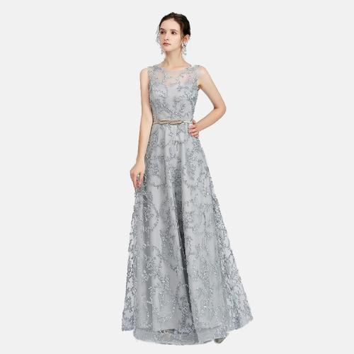 Dignified delicate evening gown Sexy applique Evening Dresses Elegant Fashion Formal long Evening Dress Real Photo