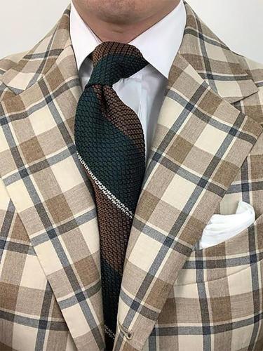 Fashion casual patchwork color stripe