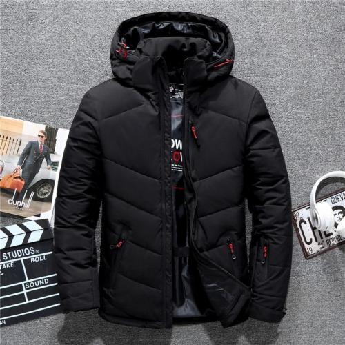 Tace & Shark brand men's winter coat casual hat detachable white duck down jacket for men warm windbreaker doudoune hiver homme