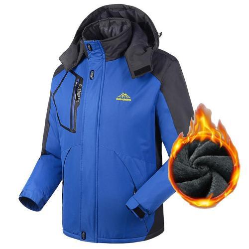 L-8XL Men's Waterproof Windpoof Jackets Men Woolen Autumn Winter Warm Jacket Coats Male Brand Clothing Plus Size Fleece Hoodies