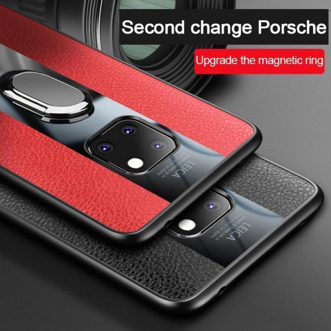 Luxury Plexiglass PU Leather Shockproof Case for Huawei