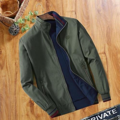 Cheap Wholesale Men's Windbreaker Double-sided Wear Jackets Men Baseball Pilot Bomber Pure Cotton Jacket Hip Hop Streetwear Coat