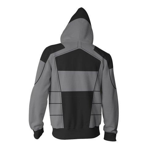 Borderlands Print Zip Hoodie Casual Sweatshirt