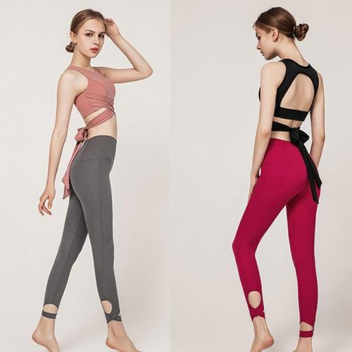 Sexy Seamless Yoga Tops Pants Women Pilates Set Gym Fitness  Sportwear Running Workout Vest Pant Sleeveless Sport Bra Suit