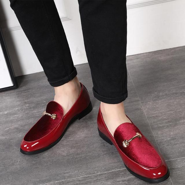 Formal Shoes - Patent Leather Pointed Toe Dress Shoes