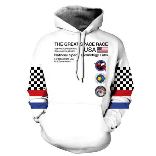 Funny NASA Astronaut Space Suit Pullover Hoodie with Big Pockets Sweatshirt Jacket Coat