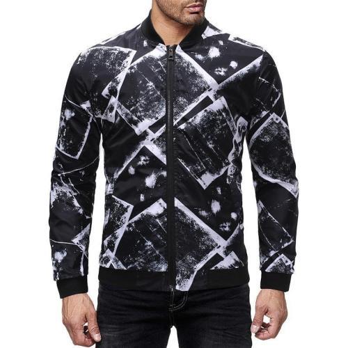 Fashion Slim Fit Printed Jacket