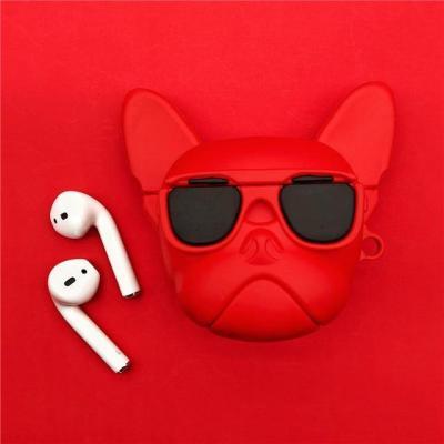 Luxury Bulldog 3D AirPods 1 2 Charging Headphones Cases