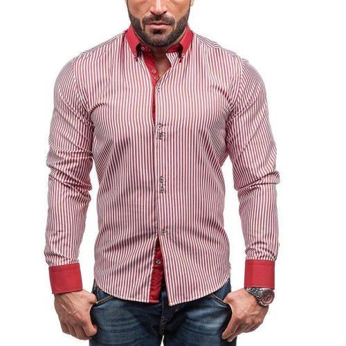 Striped Stitching Shirt