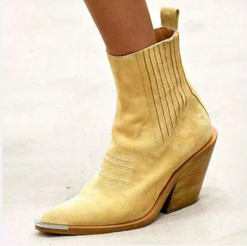 Women ankle Boots high heels pumps shoes boots women pointed Toe slip on   luxury shoes women designers w43