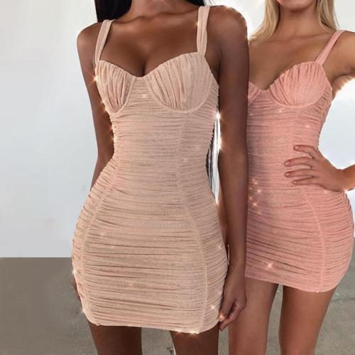 SPARKLY RUCHED DRESS