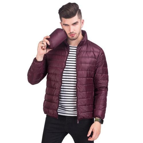 2020 New Men Winter Jackets Ultra Light 90% White Duck Down Jackets Casual Waterproof Portable Down Coats for Man Warm Outerwear