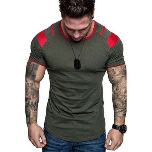 Men Fashion Sports Casual Fitness Short Sleeve T-shirts