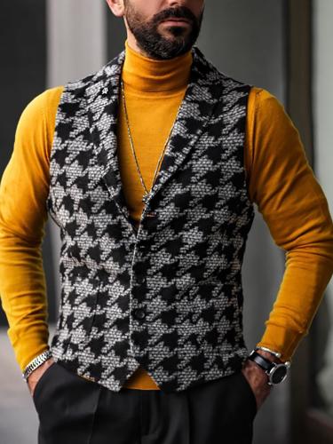 Fashion Mens Classic Single Breasted Vest