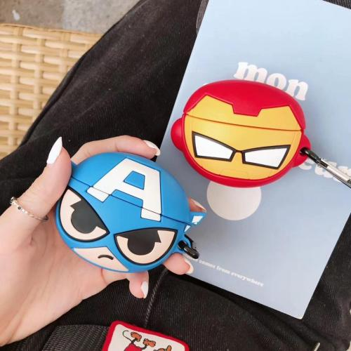 Superhero Captain America  AirPods Pro Case 3D Silicone Shockproof Cover