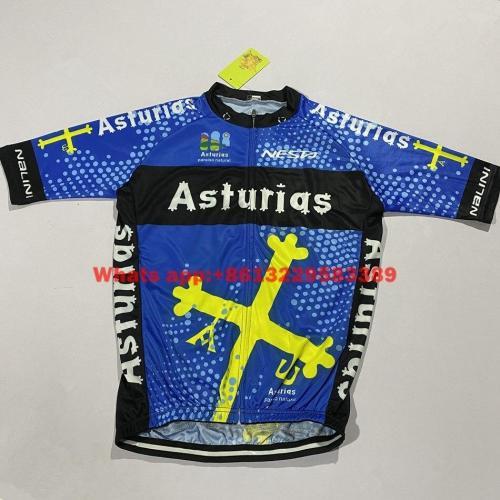 Asturias Short sleeve Suits summer shirts 2020 Bicycle jacket mtb sports clothing Mens Cycling Jersey kit bike shorts gel pad