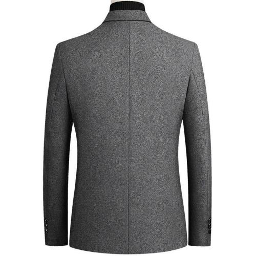 KUYOMENS Blazer Mens Striped British Stylish Male Blazer Suit Jacket Business Casual One Button Regular Blazer For Men M-4XL