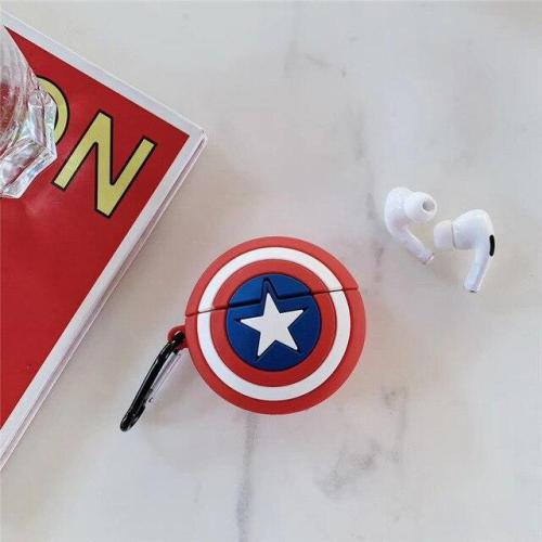 Captain America's Shield AirPods Pro Case Silicone Shockproof Cover