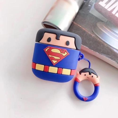 3D Silicone Superman Batman AirPods Charging Case